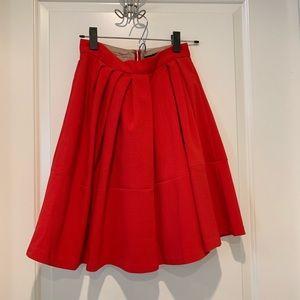 Banana Republic Red Pleated Skirt